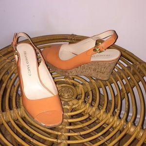 Franco Sarto Orange Wedges Women's size 8.5 EUR 40